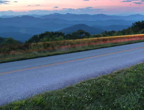 Tail Lights on the Blue Ridge Parkway